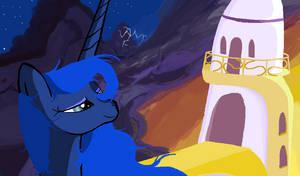 Luna Night Is Falling in MS.paint