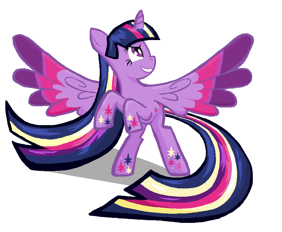 Twilight Sparkle Rainbow POWER in MS-paint