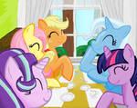 Twilight Trixie Starlight Fluttershy  Apple Jack