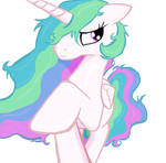 Princess Celestia lose all her stuff in Ms-Piant