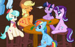 Twily Coco Dash AppleJack Starlight  w8 in the Pub