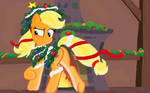 Applejack  Hearth's Warming Eve in Ms-Paint