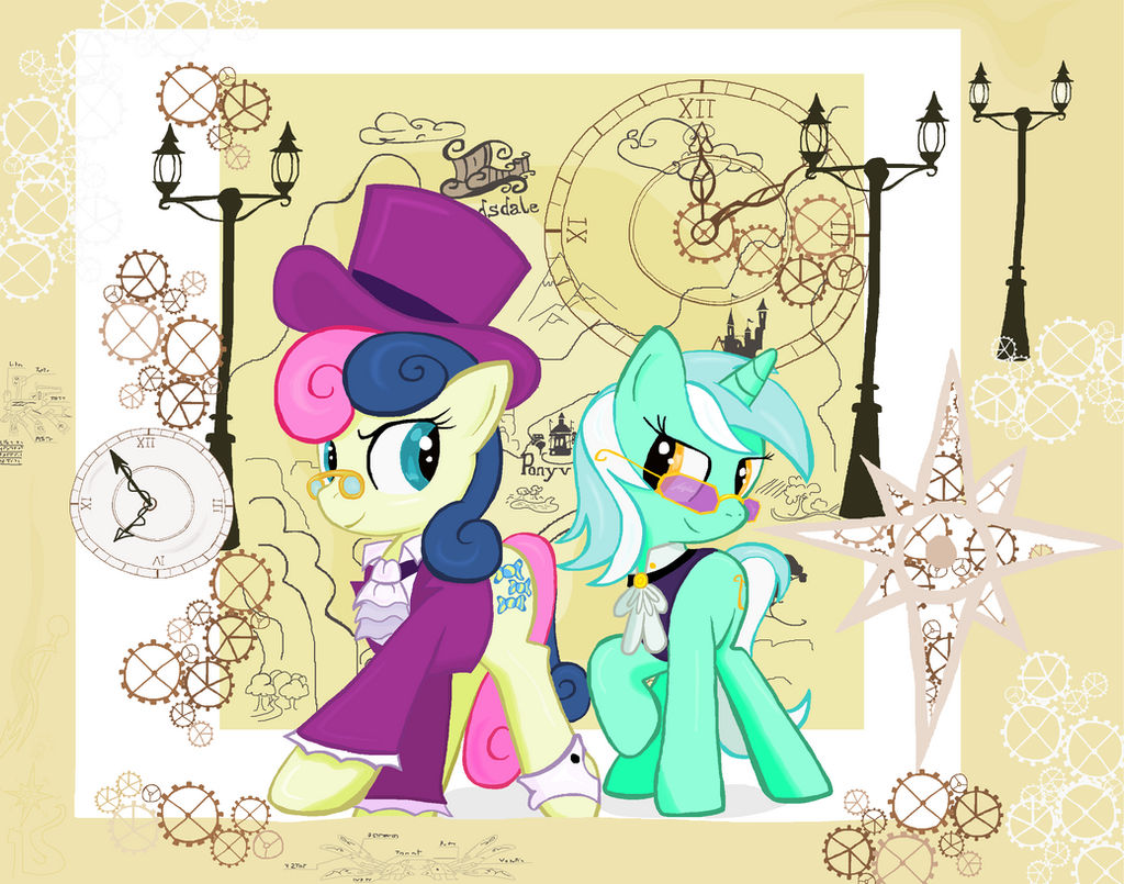 Lyra And Bon Bon Travel in Ms-paint