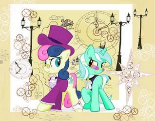 Lyra And Bon Bon Travel in Ms-paint by sallycars