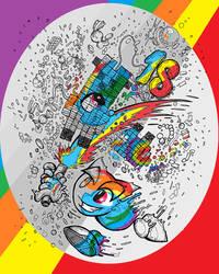 18th Birthday Line Art Challenge Rainbow Dash by sallycars