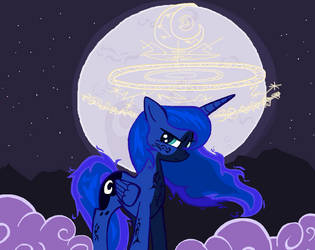 Princess Luna day 2018 in MS-Paint by sallycars