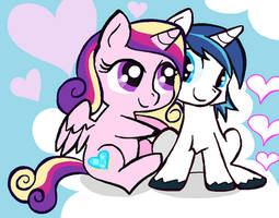Shining and Cadance Day in Ms-Piant