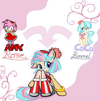 Coco Pommel x Amy Rose in Ms-Paint by sallycars