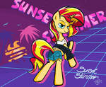 Sunset Shimmer 80s in Ms-paint