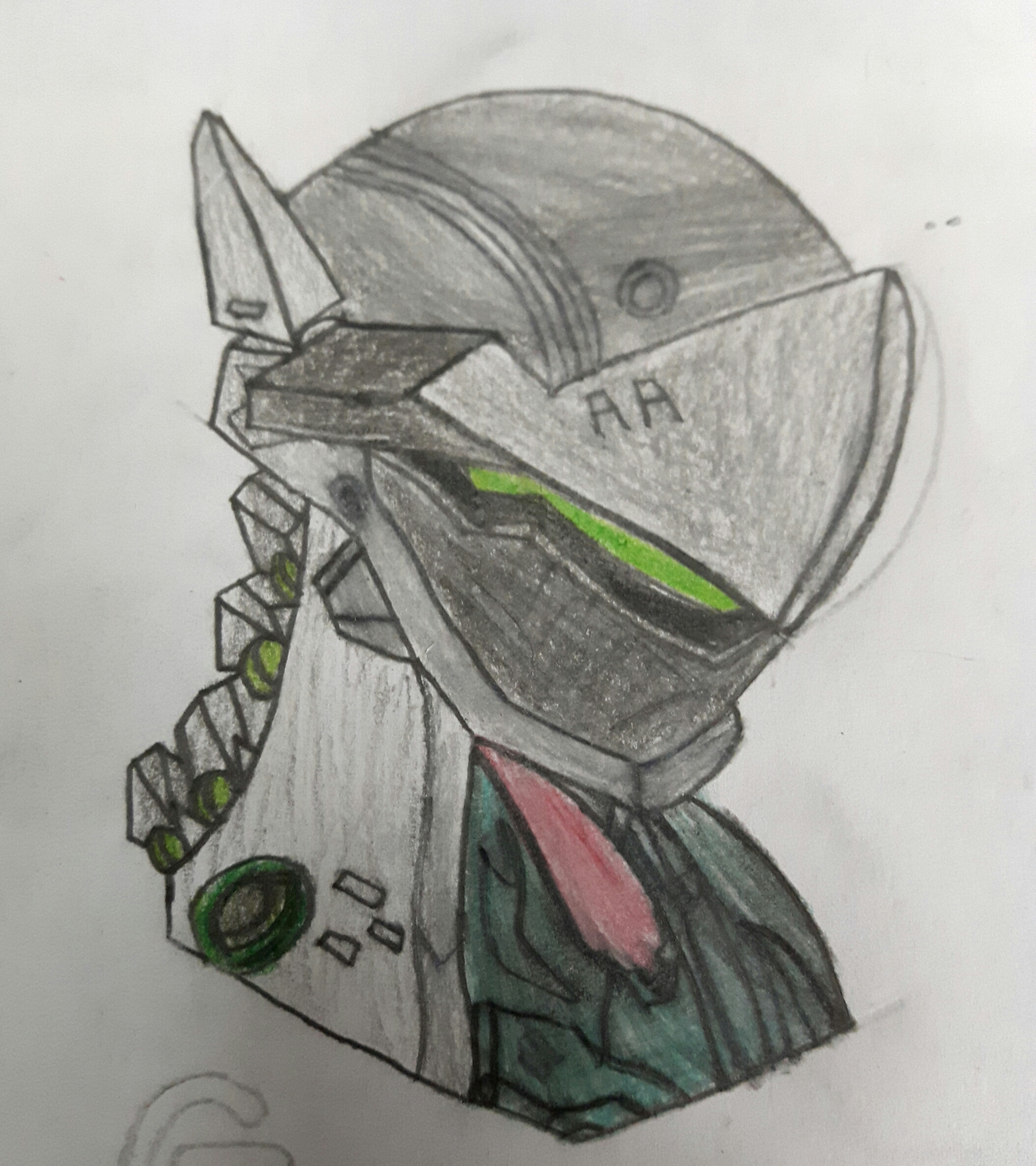 how to draw overwatch genji