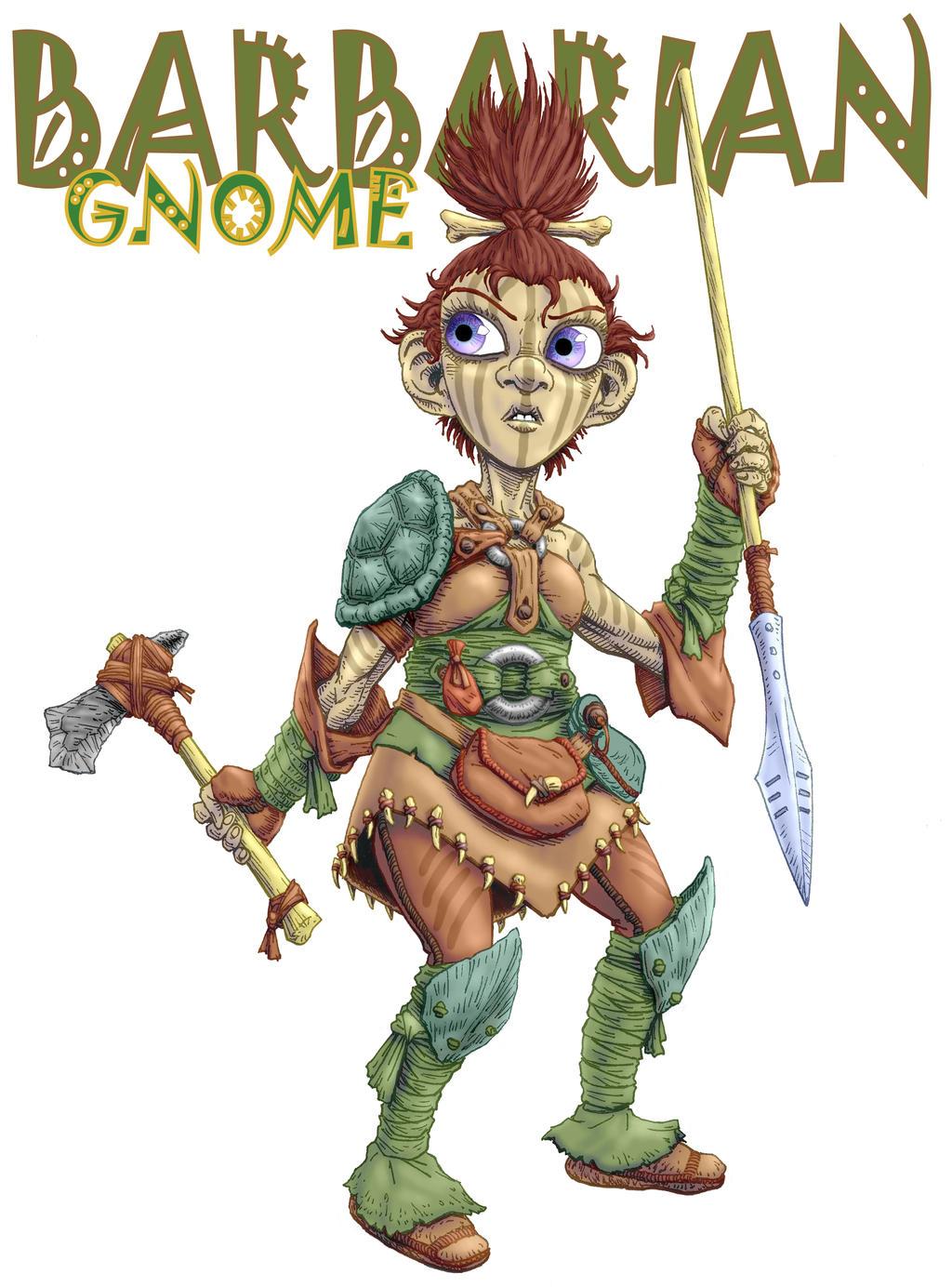 barbarian gnome female by darthcestual on deviantart