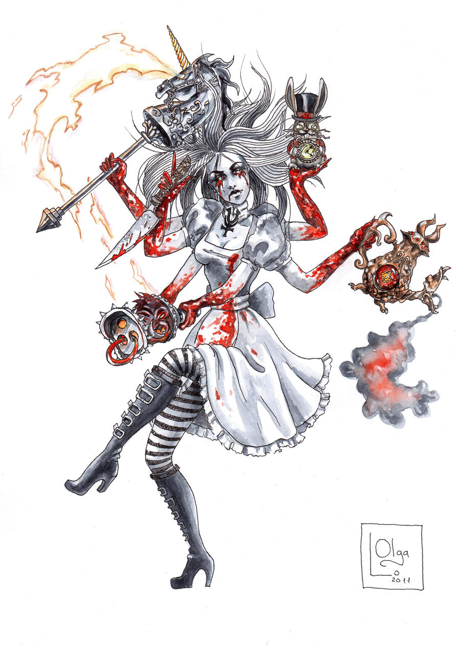 Alice Madness Returns as Shiva by OlgaLo