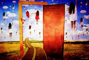 Tribute to Rene Magritte - What's behind my door