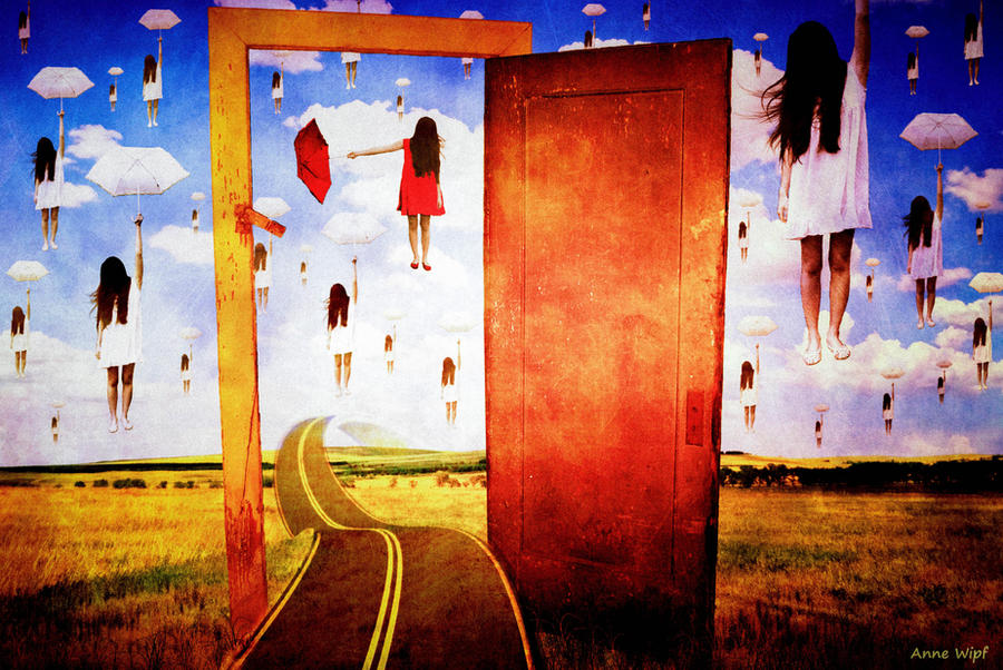 Tribute to Rene Magritte - Whatu0027s behind my door by annewipf ... : magritte door - pezcame.com