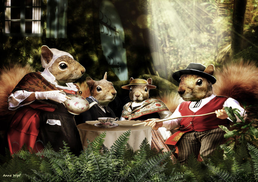 Squirrels Family by annewipf