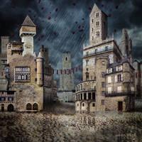 Town under the Rain by annewipf