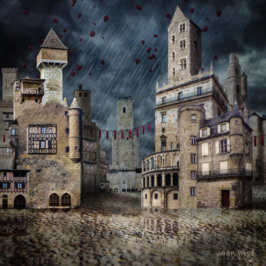 Town under the Rain
