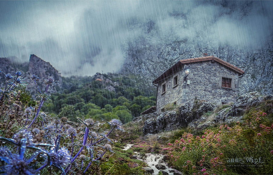 Rainfall over the montain by annewipf