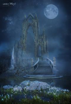 Moonlit Fantasy Landscape