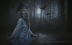 Midnight Bath by annewipf