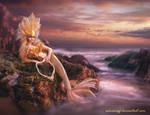 Sunset Mermaid - Pink version