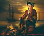 Pirate at Sunset