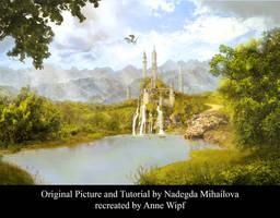 Fantasy landscape by annewipf