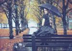A gentle rain washes pain by annewipf