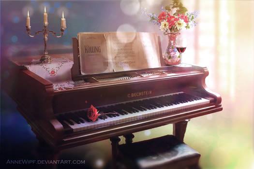 Piano on a sunny morning