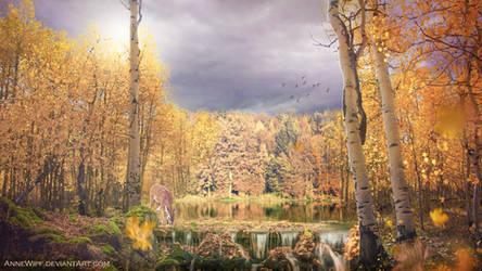 Golden Waters by annewipf