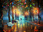 Tribute to Leonid Afremov by annewipf