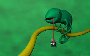 Chameleon VS fat fly by sergiob8
