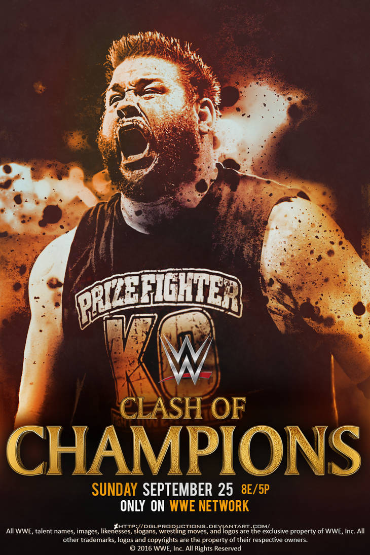 a9a8500b433bc WWE Clash of Champions 2016 - Custom Poster by DGLProductions on ...