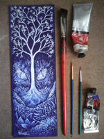 Tree In The Land Of The Blue Dragon by Azraelangelo