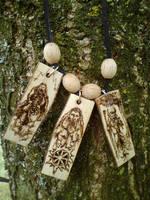 Triglav necklace by Azraelangelo