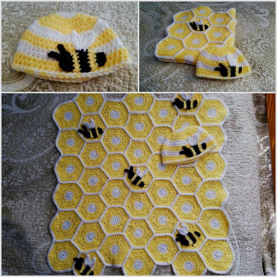 Beehive Granny Square Baby Blanket by DeadlyDingo on DeviantArt