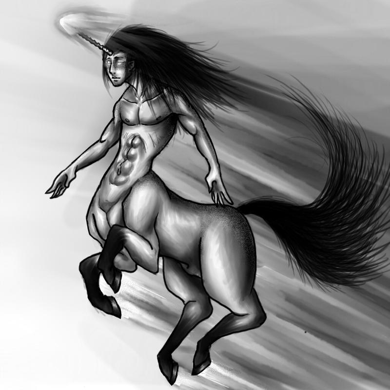 Centaur unicorn by CiccuLeAwesome