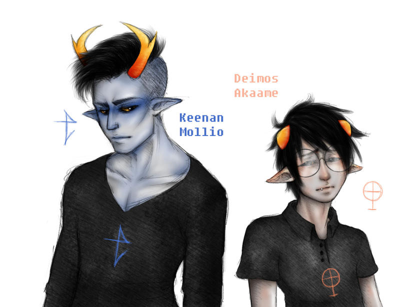 Keenan and Deimos by CiccuLeAwesome