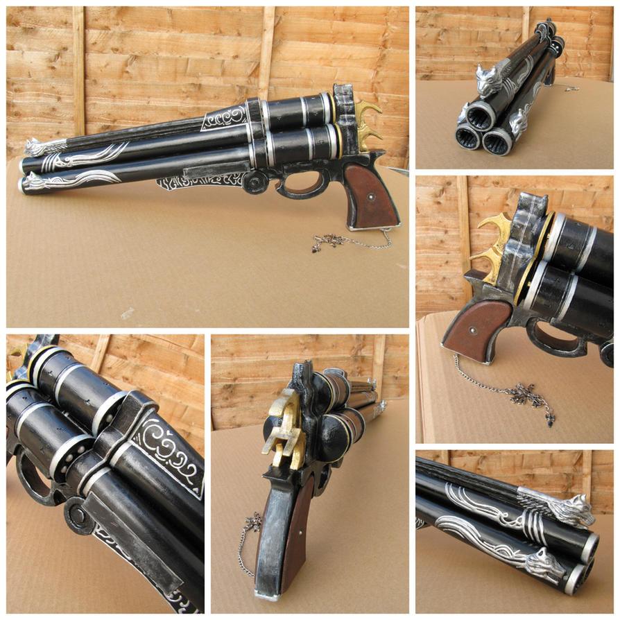 Cerberus Gun by Anathiell by Anathiell