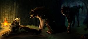 Meet the pups [comm] by Dachiia