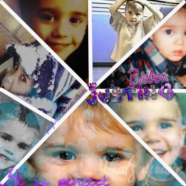Justin Bieber Baby Pictures Collage Collage de Justin Bieber by