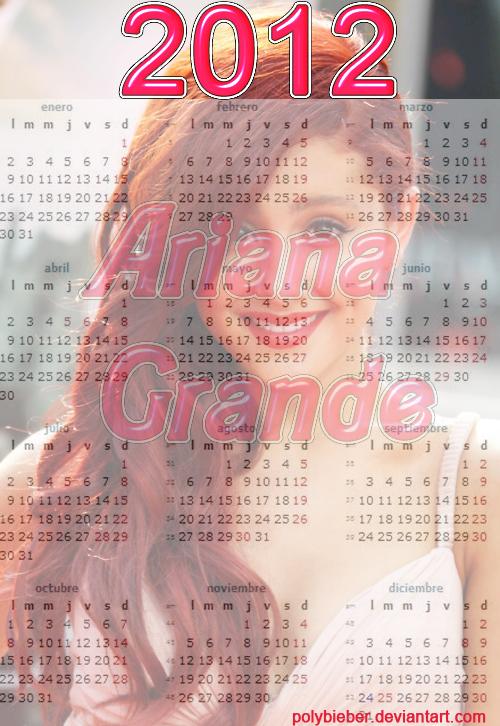Ariana Grande Calendario.Calendario De Ariana Grande Pedido By Polybieber On Deviantart