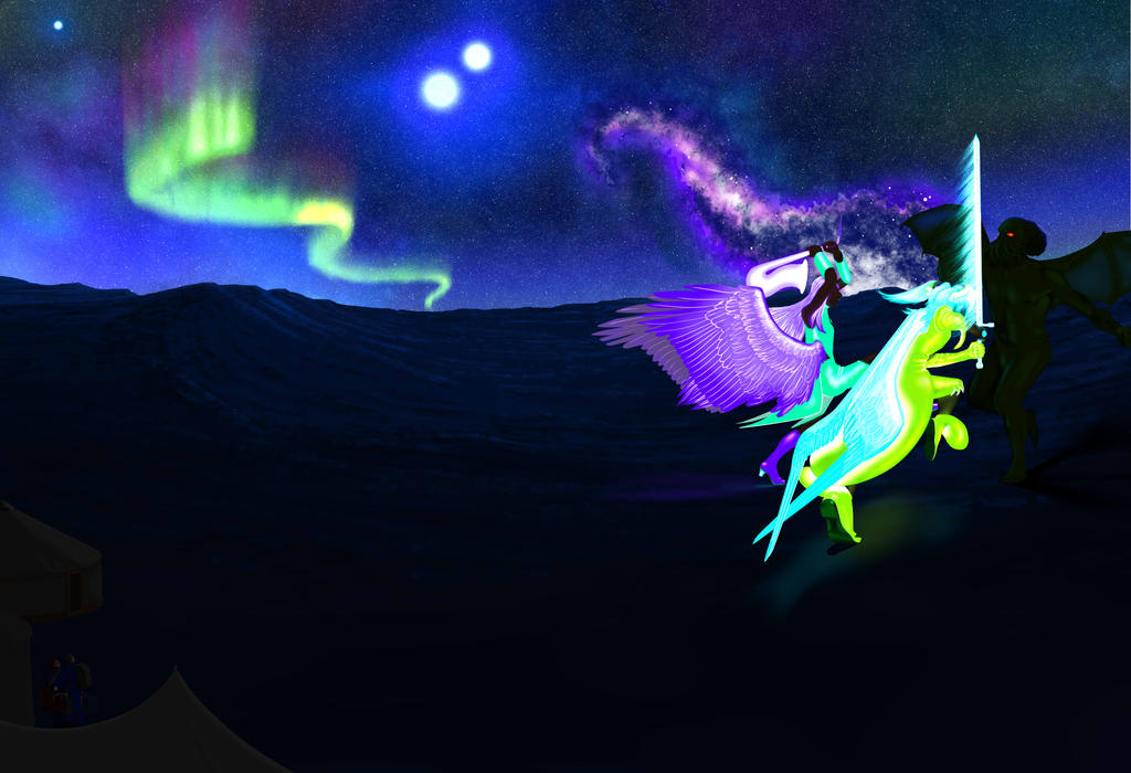 Fusion Battle Scene Wip8 by lalasara