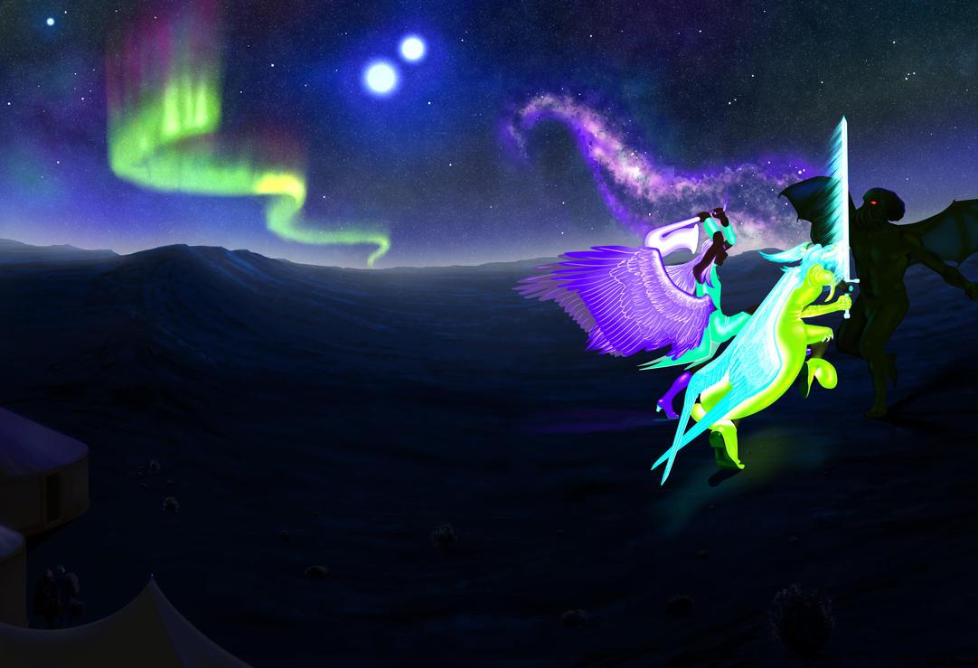 Fusion Battle Scene by lalasara