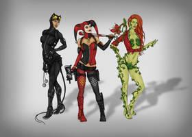 Gotham City Sirens redesign by CyanSoul