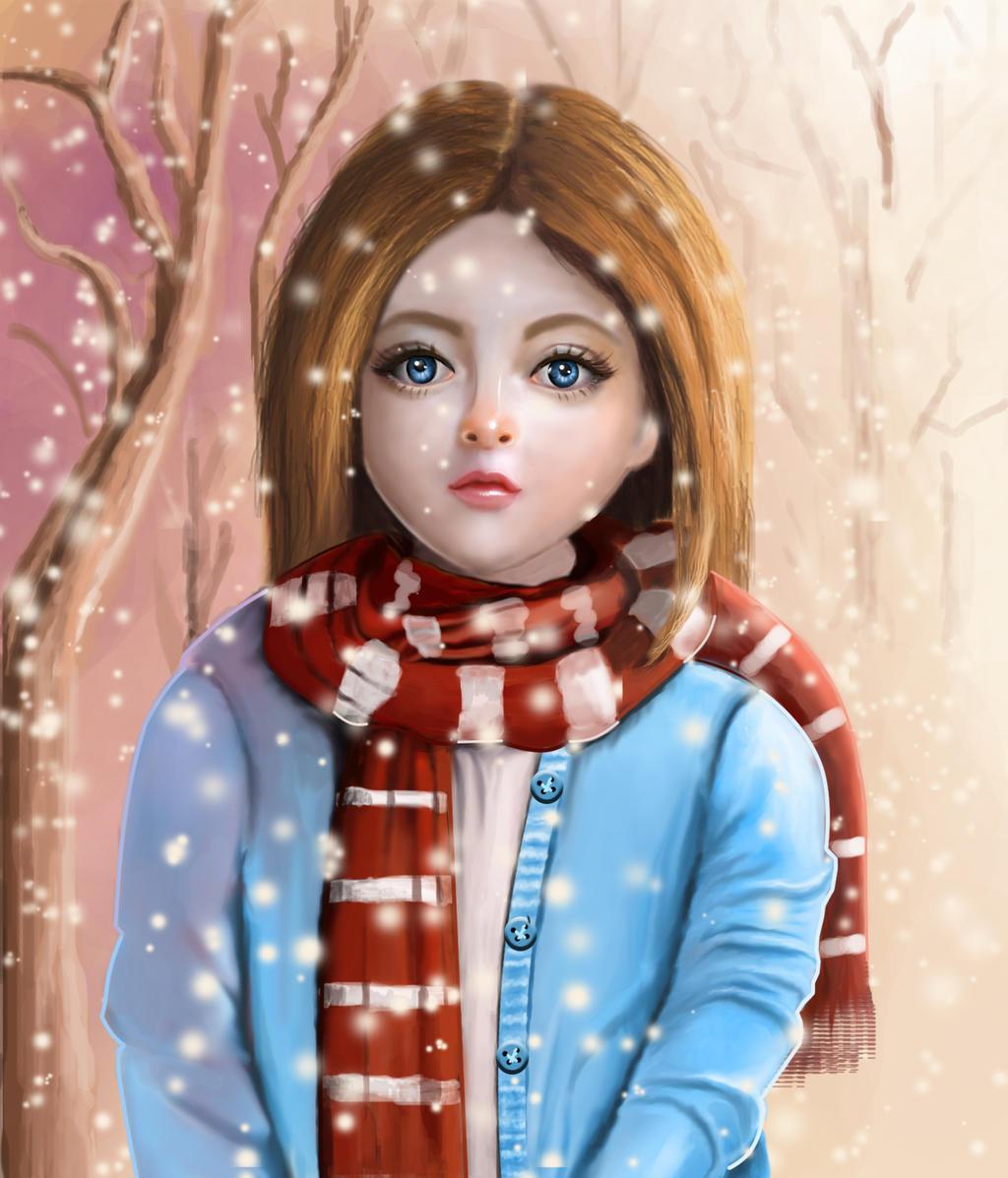 First Snow by UshaKiran