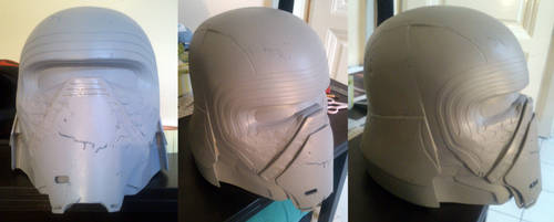 Kylo Ren helmet progress 4 by WulWhite