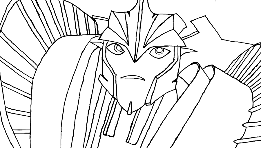 Transformers prime knockout by meanncat on deviantart for Knockout draw sheet template
