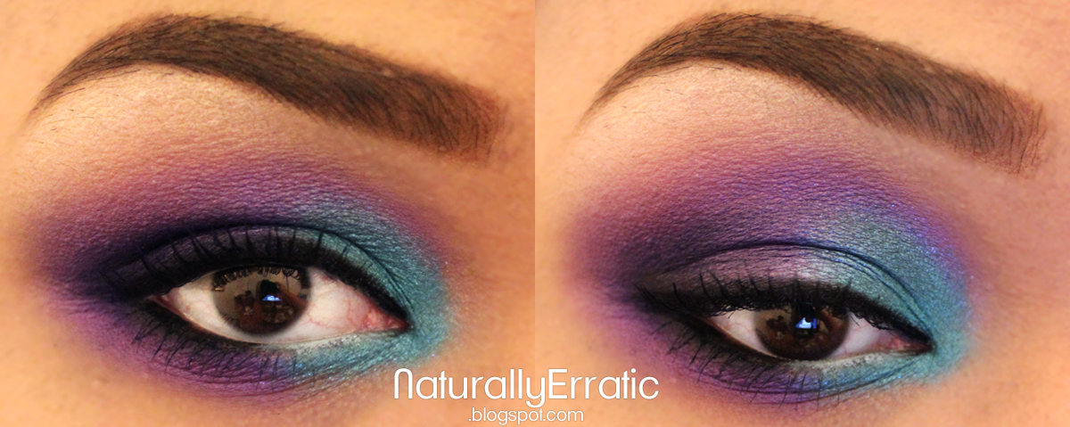 Teal and Purple Smokey Eye by NaturallyErratic