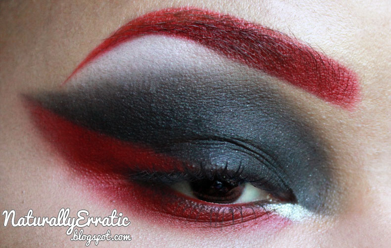 Red and Black Smokey Eye by NaturallyErratic